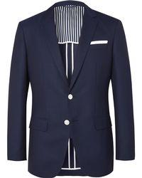 BOSS   Navy Hartlay Slim-fit Wool Blazer   Lyst