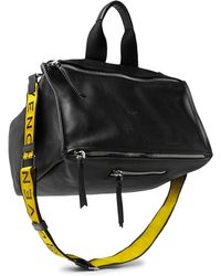 Givenchy - Pandora Webbing-trimmed Leather Tote Bag - Lyst