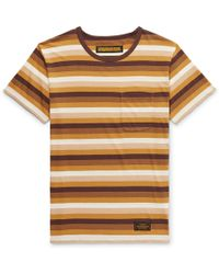 Neighborhood - Striped Cotton-jersey T-shirt - Lyst