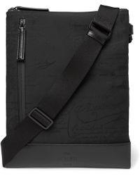 Berluti - Salou Leather-trimmed Printed Nylon Messenger Bag - Lyst