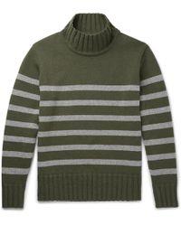 Universal Works - Striped Wool-blend Rollneck Sweater - Lyst