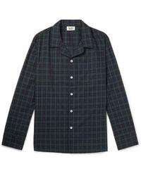 Sleepy Jones | Henry Piped Black Watch Checked Cotton Pyjama Shirt | Lyst