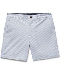 Club Monaco - Baxter Striped Stretch-cotton Seersucker Shorts - Lyst