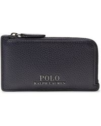 Polo Ralph Lauren - Full-grain Leather Zip-around Cardholder - Lyst
