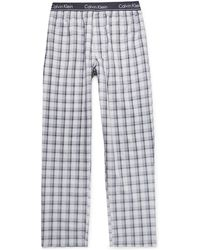 Calvin Klein - Checked Woven Pyjama Trousers - Lyst