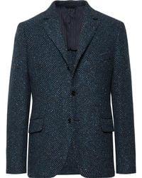 Mp Massimo Piombo - Blue Warhol Slim-fit Virgin Wool-tweed Blazer - Lyst
