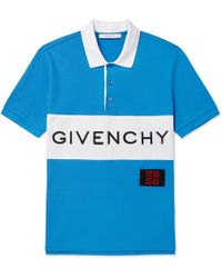 Givenchy - Slim-fit Logo-embroidered Cotton-piqué Polo Shirt - Lyst