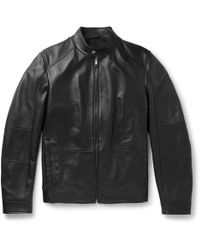 8b5e38c02e3 Lyst - Men s BOSS Leather jackets Online Sale