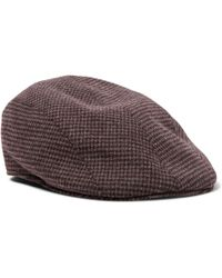 Altea - Puppytooth Flannel Flat Cap - Lyst