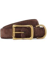 Polo Ralph Lauren - 2.5cm Brown Brushed-suede Belt - Lyst