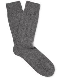 Anderson & Sheppard - Merino Wool-blend Socks - Lyst
