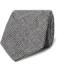 Kingsman - Drake's 8cm Prince Of Wales Checked Wool And Cashmere-blend Tie - Lyst