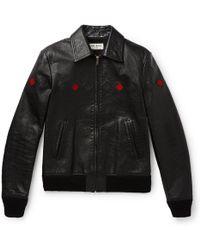 380e80b6ac83 Paul Smith Black Full-Grain Leather Biker Jacket in Black for Men - Lyst
