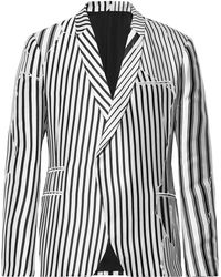 Haider Ackermann - Double-breasted Striped Twill Blazer - Lyst