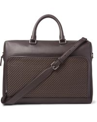Ermenegildo Zegna - Pelle Tessuta Leather Briefcase - Lyst