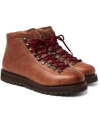 Brunello Cucinelli - Shearling-lined Leather Boots - Lyst