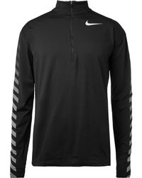 Nike - Flash Element Stretch-jersey Top - Lyst