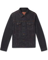 Brioni - Stretch Cotton And Cashmere-blend Denim Jacket - Lyst