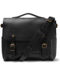 Bleu De Chauffe - Éclair Leather Messenger Bag - Lyst