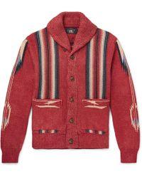 RRL - Folkloric Cotton-blend Cardigan - Lyst