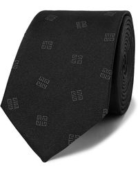 Givenchy - 6.5cm Logo-embroidered Silk-faille Tie - Lyst