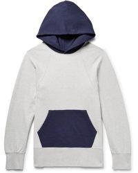 Visvim - Colour-block Mélange Loopback Cotton-jersey Hoodie - Lyst