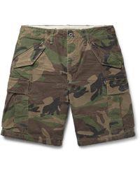 Polo Ralph Lauren - Camouflage-print Cotton Cargo Shorts - Lyst