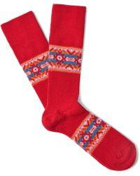 Anonymous Ism | Jacquard-knit Socks | Lyst
