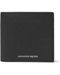 Alexander McQueen - Full-grain Leather Billfold Wallet - Lyst