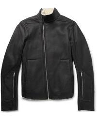 Rick Owens - Mollino Slim-fit Shearling Biker Jacket - Lyst