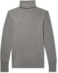 Theory - Ribbed Modal-blend Rollneck Jumper - Lyst