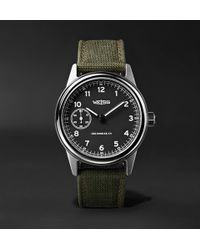 Weiss - Automatic Issue 38mm Stainless Steel And Cordura Field Watch - Lyst