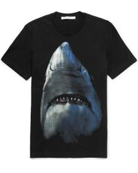 Givenchy | Cuban-fit Shark-print Cotton-jersey T-shirt | Lyst