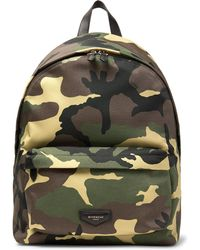 Givenchy - Leather-trimmed Camouflage-print Canvas Backpack - Lyst