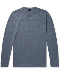 Onia - Miles Puppytooth Modal-blend Henley T-shirt - Lyst