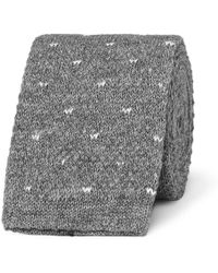 Loro Piana - 5cm Polka-dot Knitted Cotton Tie - Lyst