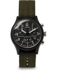 Timex - Mk1 Chronograph Aluminium And Nylon-webbing Watch - Lyst