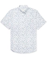 Club Monaco - Button-down Collar Flamingo-print Cotton Shirt - Lyst