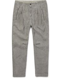 Massimo Alba - Watercolour-dyed Striped Linen Trousers - Lyst