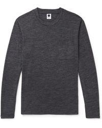 NN07 - Mélange Wool-blend Jersey T-shirt - Lyst