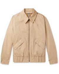 Burberry - Reversible Checked Cotton-gabardine Blouson Jacket - Lyst