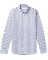 Richard James - Button-down Collar Striped Cotton Shirt - Lyst