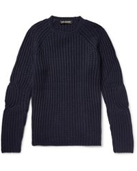 Neil Barrett - Ribbed Wool-blend Sweater - Lyst