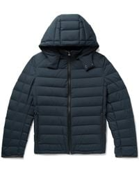 Brioni - Slim-fit Leather-trimmed Quilted Shell Hooded Down Jacket - Lyst