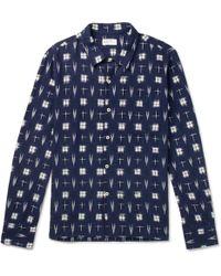 Universal Works - Garage Ikat Cotton Shirt - Lyst