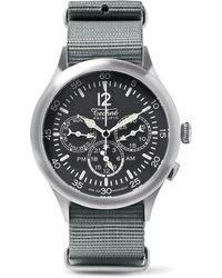 Techne | Merlin 296 Stainless Steel And Webbing Watch | Lyst