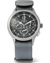 Techné - Merlin 296 Stainless Steel And Webbing Watch - Lyst