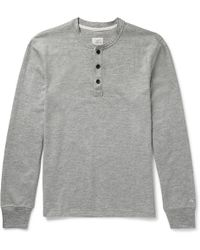 Rag & Bone - Mélange Cotton-blend Jersey Henley T-shirt - Lyst