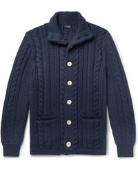 J.Crew - Cable-knit Cotton Cardigan - Lyst