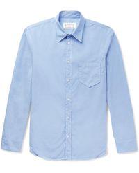 Maison Margiela - Slim-fit Garment-dyed Cotton-poplin Shirt - Lyst